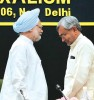<b>Badly drawn?</b> Manmohan Singh with Bihar CM Nitish Kumar