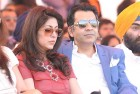 <b>Interlude</b> Scam-tainted Unitech MD Sanjay Chandra and his wife Preeti catch a match at the Jaipur Polo Grounds in New Delhi