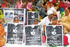 Bhopal disaster victims at yet another protest rally in Delhi