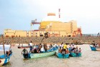 <b>Blackened</b> Fishermen at an anti-nuclear protest outside the Koodankulam nuclear plant