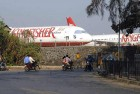 <b>Grounded</b> Kingfisher aircraft parked at Mumbai airport