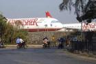 <b>Grounded</b> Kingfisher aircraft parked at Mumbai airport