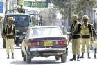 <b>At cross purposes</b> A military checkpost in Quetta