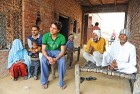 <b>New order</b> Lalit Kumar, third from left, with brother and other family members at their home in Ambedkar village Machipur