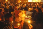 <b>State's victim?</b> A vigil held in support of Kazmi