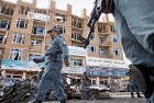 <b>Kabul hurt</b> A building damaged in the recent Taliban attack