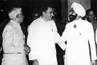 Zail Singh with Rajiv and R. Venkataraman