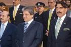 The new ISI chief, Zahirul Islam (right)