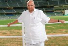 <b>Pass the sugar</b> Sharad Pawar poses for photogs  at the Wankhede stadium in Mumbai