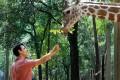 <b>The upward arc</b> Aamir Khan at the White Oak wildlife park