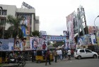 A Rajni jam in cutout county Chennai on the release of his last blockbuster, <i>Endhiran</i>