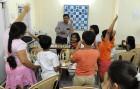 A chess class at GM Dibyendu Barua's academy in Calcutta