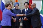 File Photo: Jun 18, 2012 BRICS' heads of state, from left, Brazil's President Dilma Rousseff, Russia's President Vladimir Putin, Prime Minister Manmohan Singh, China's President Hu Jintao and South Africa's President Jacob Zuma pose for photos at the G-20 Summit in Los Cabos, Mexico.