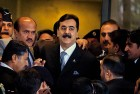 Dismissed Pakistan PM Yousuf Raza Gilani at the supreme court in Islamabad in February