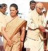 <b>Shrink wrapped</b> Sonia Gandhi, L.K. Advani