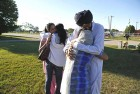 Mourners outside the gurudwara at Oak Creek, Wisconsin, the scene of the shooting that killed six people