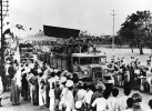 <b>To the ill-fated battlefront</b> People line up to watch a convoy of trucks carrying soldiers to border areas during the 1962 conflict with China