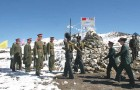 <b>Sitzkrieg</b> An Indian Army delegation on the Chinese side of the LAC at Bum la for a border personnel meeting