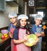 <b>Delhi</b> Baker's guild of twins Ayush and Kavin Bhatia, 8, with Mehika Sikand, 10