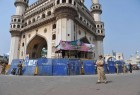 <b>Trouble spot</b> The Bhagyalakshmi temple abutting the Charminar