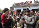 <b>It is she?</b> Priyanka at a UP election rally