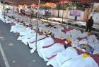 Corpse commanders Pro-Telangana activists play dead at a recent agitation