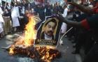 Anti-Lanka protests by DMK