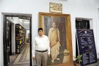 Chandra Kumar Bose at the Boses' Woodburn Park house in Calcutta, now housing the Netaji Subhash Open University