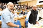 Peas, pods? Narendra Modi and Nitish Kumar at the CMs' meeting in Delhi, 2012