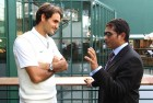 <b>Two of a kind</b> Sachin with Fedex at Wimbledon