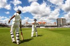 Sourav, Sachin walk in to bat at Trent Bridge, in the second Test against England, July 29, 2007