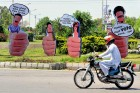 <b>Vote is it...</b> Election awareness hoardings in Islamabad, Apr 18