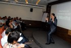 <b>The spell bind</b>: Repeat visitors pay to listen to Rahul Jain, an alumnus of the direct selling industry, in Delhi