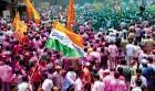 Congress workers celebrate in Belgaum