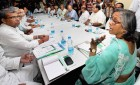 SEC chief Mira Pande attending a meeting