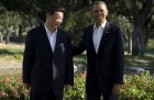 President Barack Obama poses with Chinese President Xi Jinping at the Annenberg Retreat at Sunnylands as they meet for talks, in Rancho Mirage, California