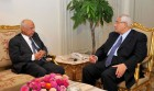 Interim President Adly Mansour, right, meets with Hazem el-Beblawi, left, in Cairo, Egypt