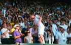 <b>Wimbledon</b> Andy Murray invades the stands after his famous win