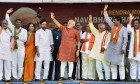 <b>For god and glory</b> Modi in Hyderabad