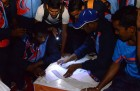 <b>Light work</b> Torches to the fore at the national athletics meet
