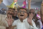Oct 01, 2013: Elderly people participate in celebrations to mark International Day of Older Persons at an old age home in Ahmedabad.