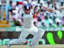 <b>Cover drive...through backward point</b> Sachin's phenomenal balance enabled him to play late and improvise