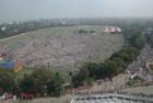 <b>Playing the maidan</b> Crowds thronged to hear Modi speak in Patna on Oct 27