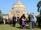 <b>Park view</b> The Japanese royal couple at Lodi Gardens in New Delhi