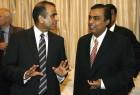 <B>Dealmakers</b> Sunil Mittal and Mukesh Ambani at a meeting in Delhi