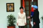 <b>Hwangyong hamnida</b> PM Manmohan with President Park
