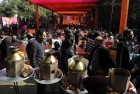 <b>Fully booked</b> Crowds at Diggi Palace, venue of JLF