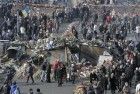 Feb 26: Kiev's Independence Square where protesters were killed in a recent clash with riot police