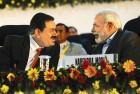Industrialist Gautam Adani and Narendra Modi at the 'Vibrant Gujarat' summit, 2011