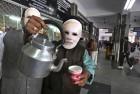 <b>Tea-talk</b> A BJP man in a Modi mask